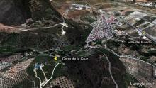Vista aérea simulada del cerro